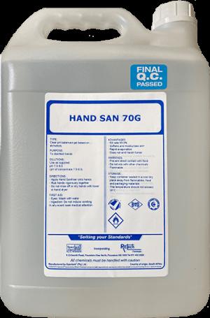 Hand Sanitiser Gel 70%